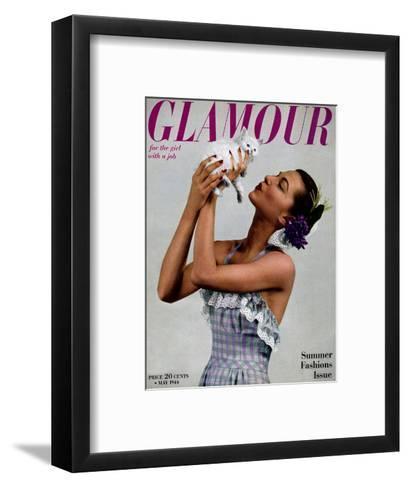 Glamour Cover - May 1944-Gjon Mili-Framed Art Print