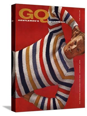 GQ Cover - October 1958-Leonard Nones-Stretched Canvas Print
