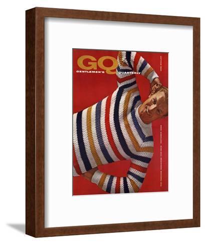 GQ Cover - October 1958-Leonard Nones-Framed Art Print