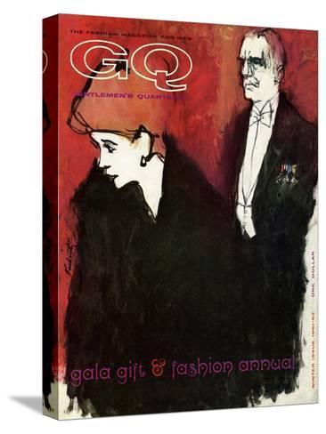 GQ Cover - December 1961-Harlan Krakovitz-Stretched Canvas Print