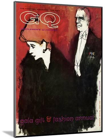 GQ Cover - December 1961-Harlan Krakovitz-Mounted Premium Giclee Print
