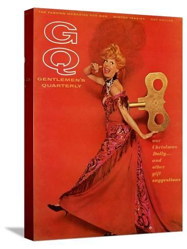 GQ Cover - December 1964-Chadwick Hall-Stretched Canvas Print