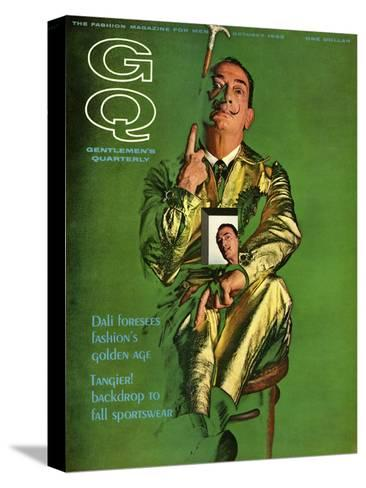 GQ Cover - October 1963-Chadwick Hall-Stretched Canvas Print