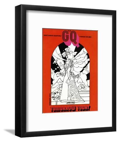 GQ Cover - February 1970-Peter Max-Framed Art Print