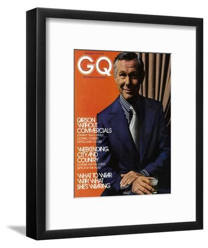 GQ Cover - November 1971-Bruce Bacon-Framed Art Print