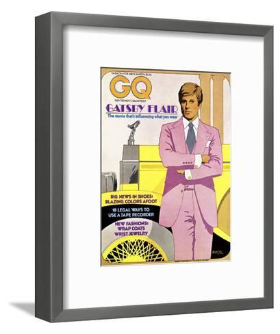 GQ Cover - March 1974-Richard Amsel-Framed Art Print