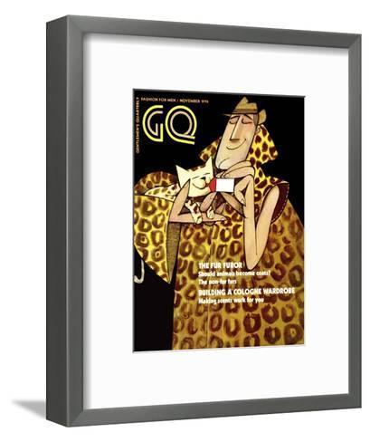 GQ Cover - November 1970-Ziraldo Alves Pinto-Framed Art Print