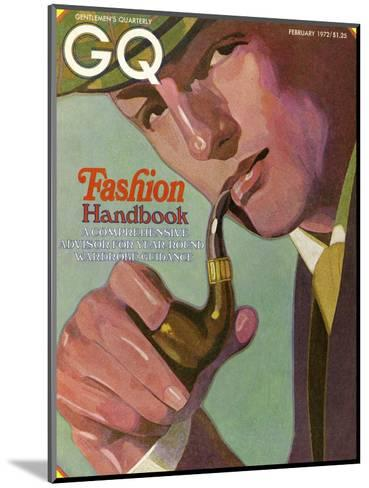 GQ Cover - February 1972-Alex Gnidziejko-Mounted Premium Giclee Print