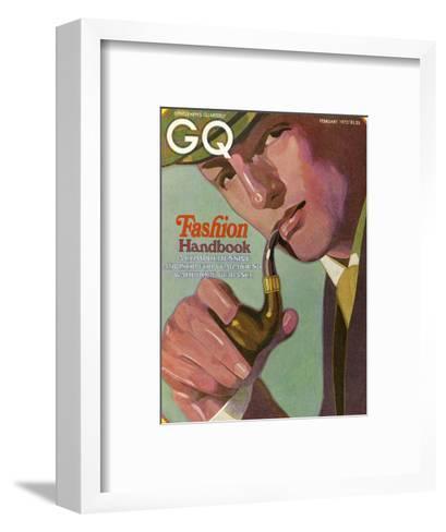 GQ Cover - February 1972-Alex Gnidziejko-Framed Art Print
