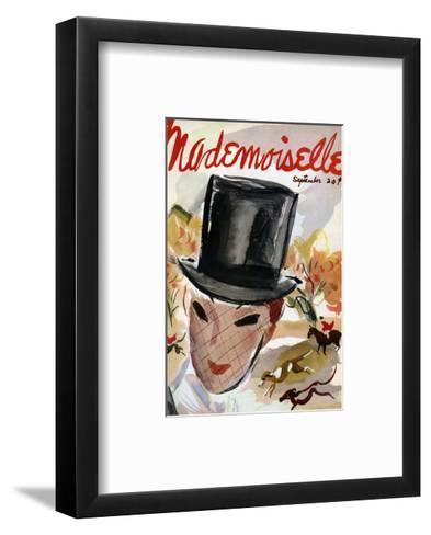 Mademoiselle Cover - September 1935-Helen Jameson Hall-Framed Art Print
