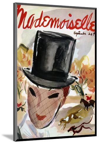Mademoiselle Cover - September 1935-Helen Jameson Hall-Mounted Premium Giclee Print