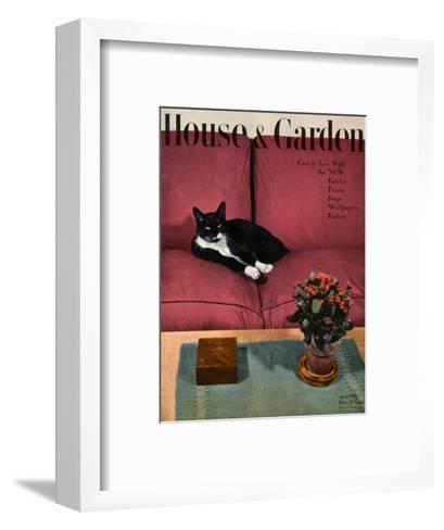 House & Garden Cover - April 1946-Andr? Kert?sz-Framed Art Print