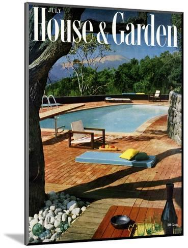 House & Garden Cover - July 1957-Georges Braun-Mounted Premium Giclee Print