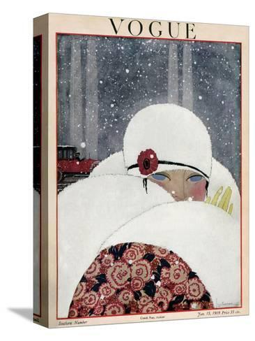 Vogue Cover - January 1919-Georges Lepape-Stretched Canvas Print