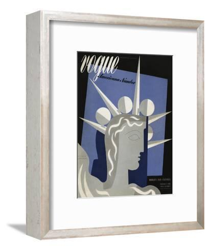 Vogue Cover - February 1939-Witold Gordon-Framed Art Print