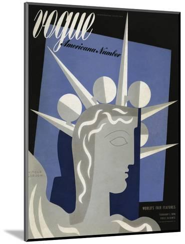 Vogue Cover - February 1939-Witold Gordon-Mounted Premium Giclee Print