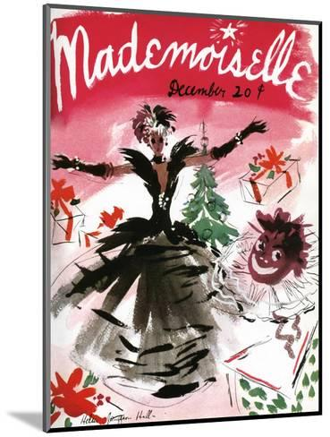Mademoiselle Cover - December 1935-Helen Jameson Hall-Mounted Premium Giclee Print