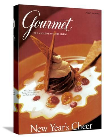 Gourmet Cover - January 1997-Romulo Yanes-Stretched Canvas Print