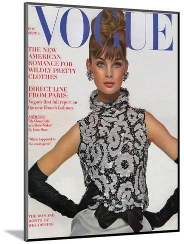 Vogue Cover - September 1963-Bert Stern-Mounted Premium Giclee Print