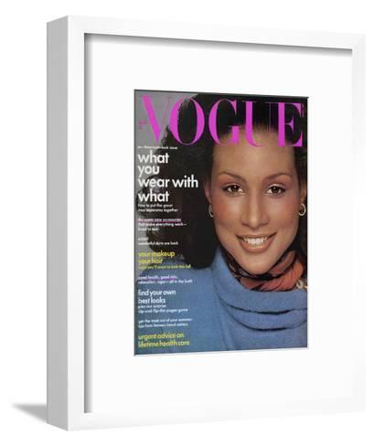Vogue Cover - August 1974-Francesco Scavullo-Framed Art Print