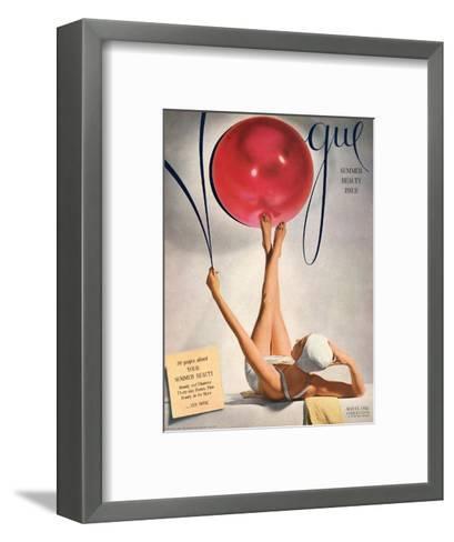 Vogue Cover - May 1941 - Having a Ball-Horst P. Horst-Framed Art Print