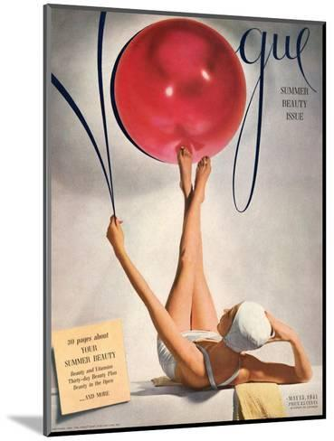 Vogue Cover - May 1941 - Having a Ball-Horst P. Horst-Mounted Premium Giclee Print