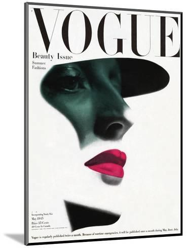 Vogue Cover - May 1945 - In the Shade-Erwin Blumenfeld-Mounted Premium Giclee Print