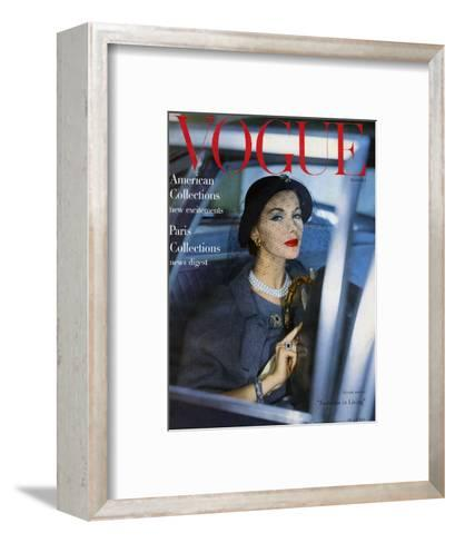 Vogue Cover - March 1957-Clifford Coffin-Framed Art Print