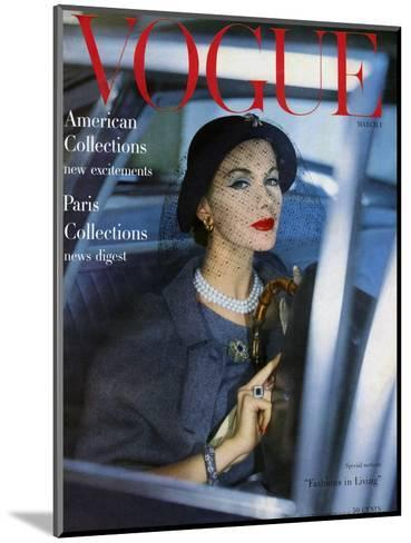 Vogue Cover - March 1957-Clifford Coffin-Mounted Premium Giclee Print
