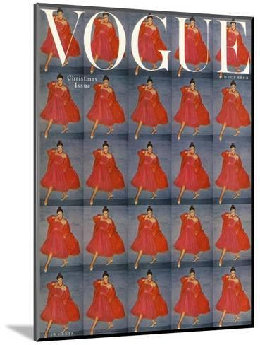 Vogue Cover - December 1954-Clifford Coffin-Mounted Premium Giclee Print