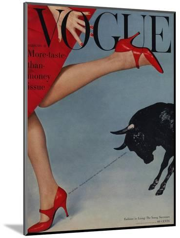 Vogue Cover - February 1958-Richard Rutledge-Mounted Premium Giclee Print