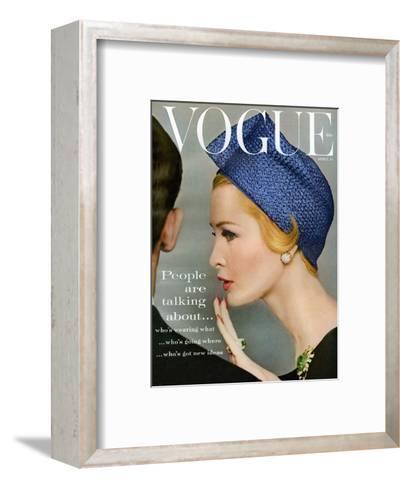 Vogue Cover - April 1959 - Talking Points-Richard Rutledge-Framed Art Print