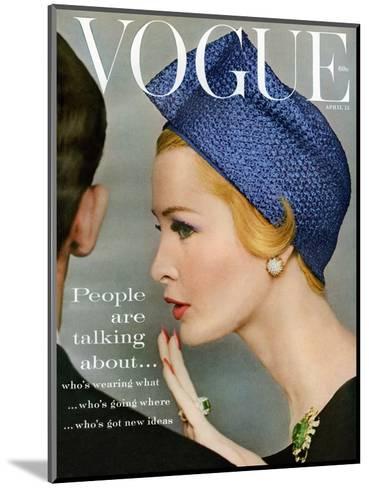Vogue Cover - April 1959 - Talking Points-Richard Rutledge-Mounted Premium Giclee Print