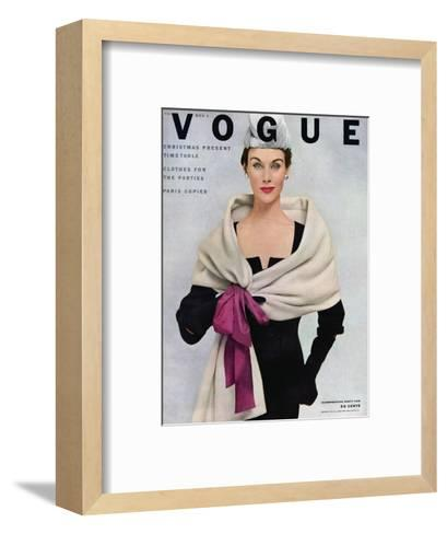 Vogue Cover - November 1952-Frances Mclaughlin-Gill-Framed Art Print
