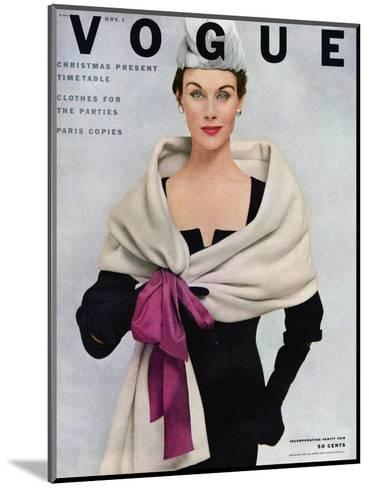 Vogue Cover - November 1952-Frances Mclaughlin-Gill-Mounted Premium Giclee Print