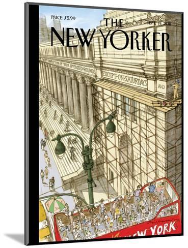New Yorker Cover - September 19, 2011-David Macaulay-Mounted Premium Giclee Print