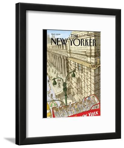 New Yorker Cover - September 19, 2011-David Macaulay-Framed Art Print