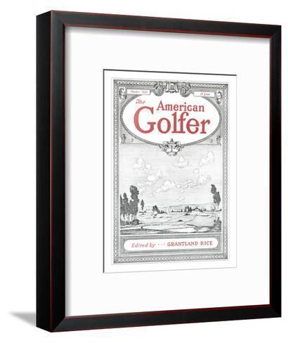 The American Golfer October 1928--Framed Art Print