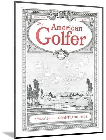 The American Golfer October 1928--Mounted Premium Giclee Print