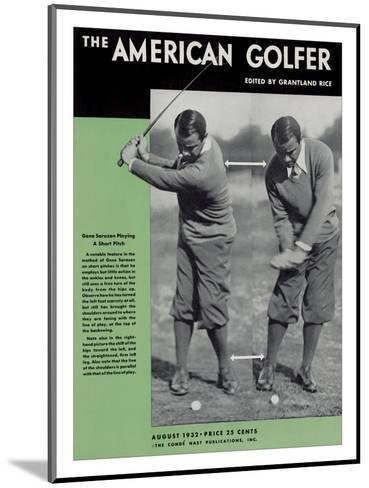 The American Golfer August 1932--Mounted Premium Giclee Print
