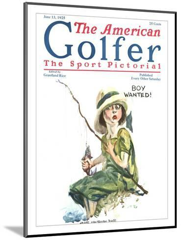 The American Golfer June 13, 1925-James Montgomery Flagg-Mounted Premium Giclee Print