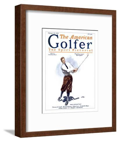 The American Golfer February 21, 1925-James Montgomery Flagg-Framed Art Print