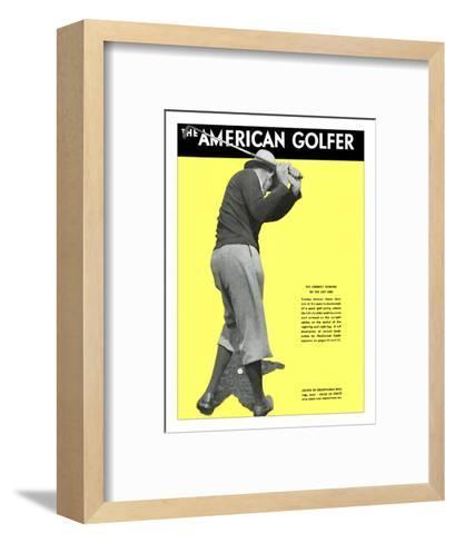 The American Golfer February 1931--Framed Art Print