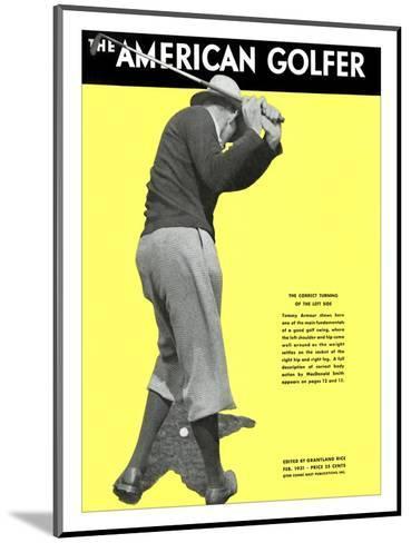 The American Golfer February 1931--Mounted Premium Giclee Print