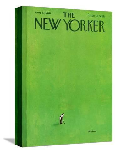 The New Yorker Cover - August 6, 1966-Abe Birnbaum-Stretched Canvas Print