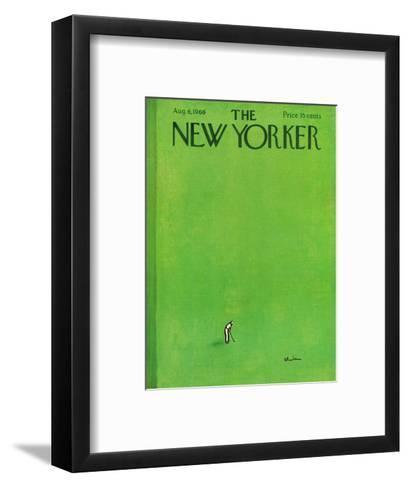 The New Yorker Cover - August 6, 1966-Abe Birnbaum-Framed Art Print