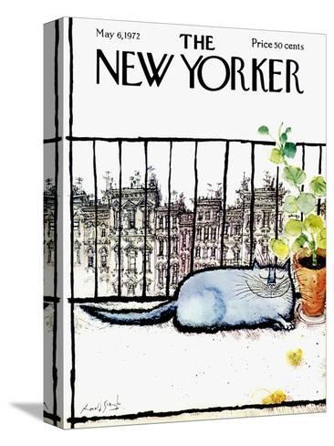 The New Yorker Cover - May 6, 1972-Ronald Searle-Stretched Canvas Print