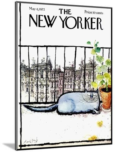 The New Yorker Cover - May 6, 1972-Ronald Searle-Mounted Premium Giclee Print