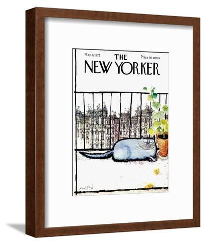 The New Yorker Cover - May 6, 1972-Ronald Searle-Framed Art Print