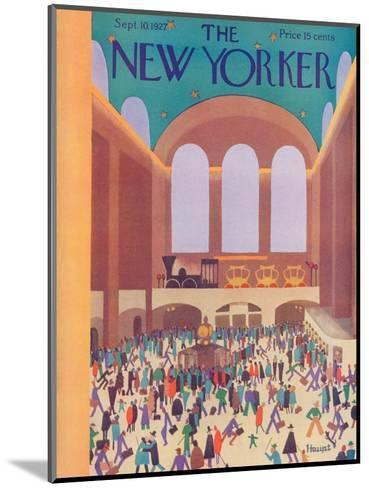 The New Yorker Cover - September 10, 1927-Theodore G. Haupt-Mounted Premium Giclee Print
